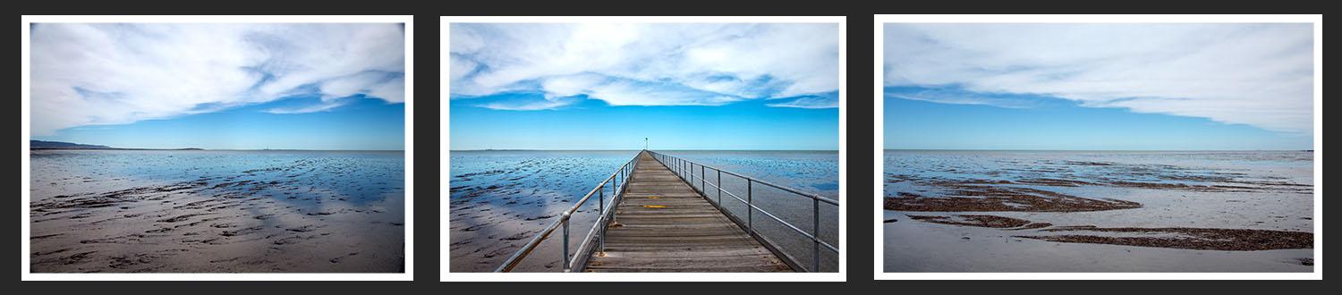 Port Germein Blue pier by Visual Image